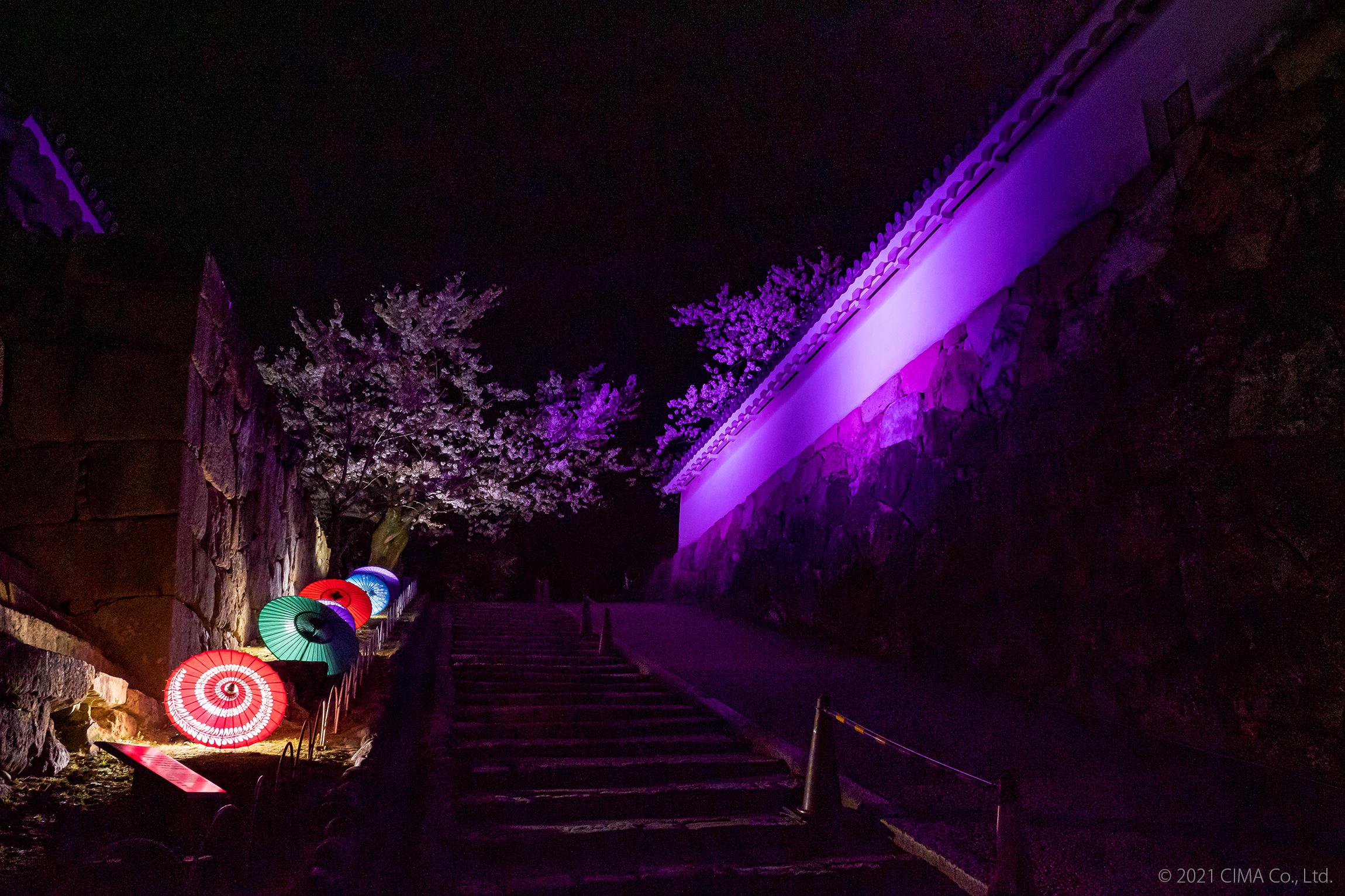 姫路城,演出照明