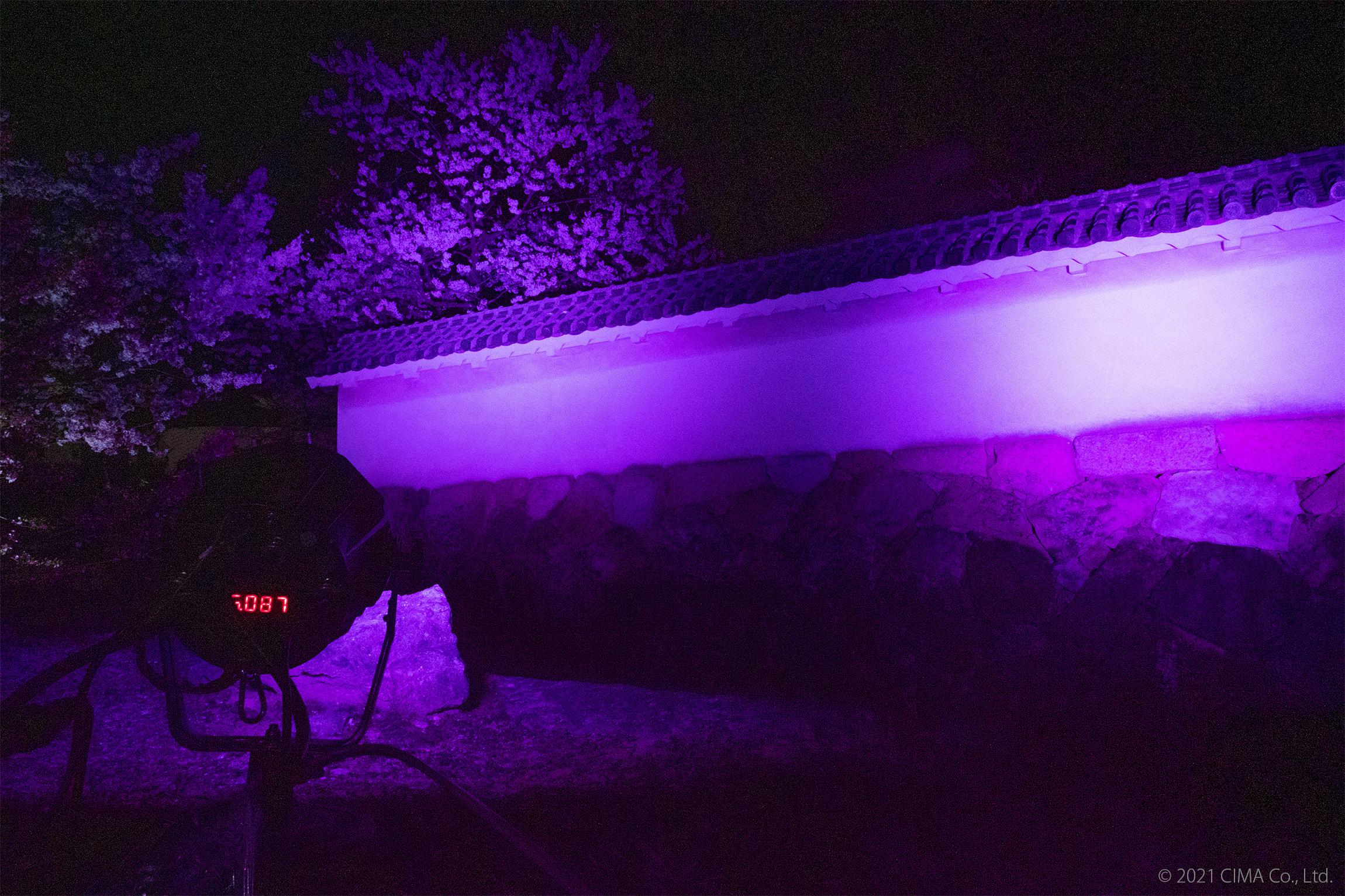 姫路城,ライトアップ演出